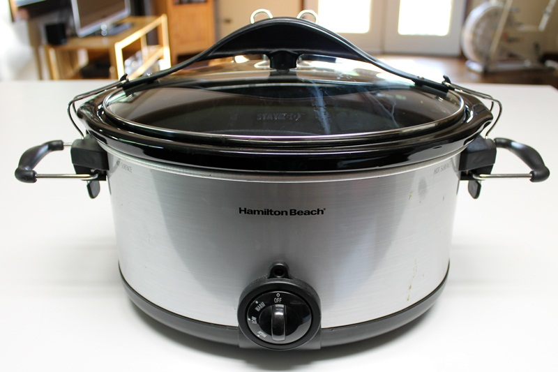 brown rice in rice cooker with vegetables