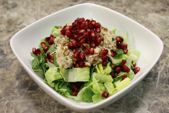 chicken salad with pomegranate